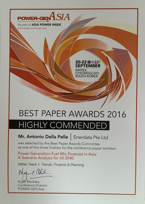 Best Paper Power Gen Asia 2016