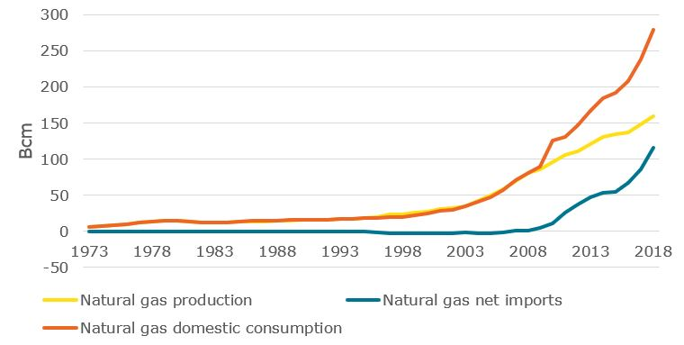 Production and consumption of natural gas in China