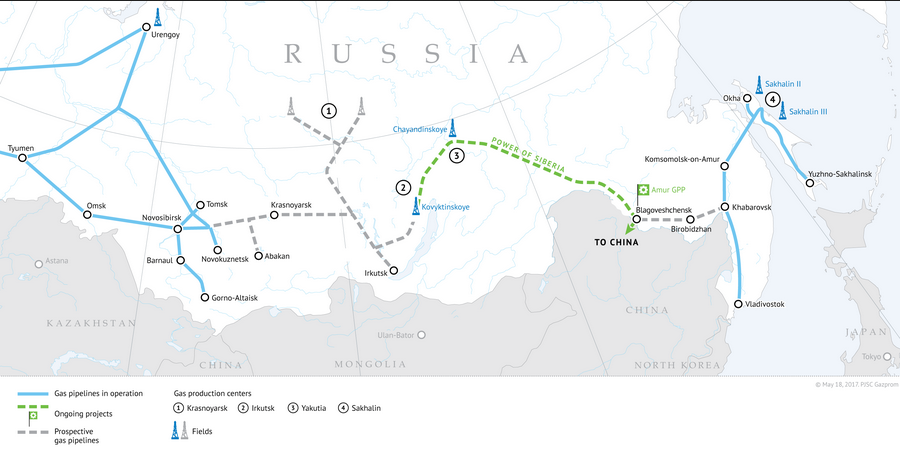 Gazprom speeds up the of the Power of Siberia pipeline construction
